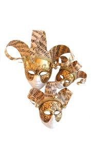 image of venice carnival  - Three Venetian Decorative Carnival Masks - JPG