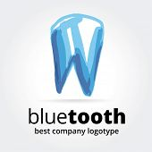 Abstract vector tooth logotype concept isolated on white background