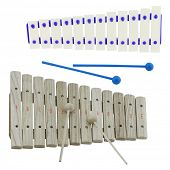 The image of xylophone under the white background