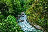 river from everest trek in nepal