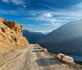 pic of himachal pradesh  - Road in Himalayas - JPG