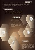 The abstraction cubic informative background with icons for companies