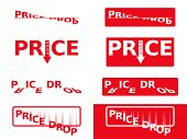 Price Drop Flat Color Stickers