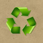 Recycle Symbol With Gradient Mesh, Vector Illustration