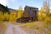 Abandoned old mill in San Juan mountains