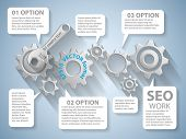 Vector  illustration of website analytics search information concept