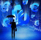 Businessman on Fianacial Crisis