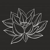 Lotus flower doodle symbol