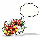 cartoon snake on nest of eggs