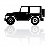 Off-road vehicle silhouette vector icon