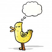 cartoon duck with thought bubble