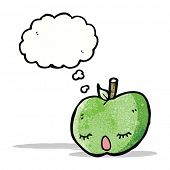 cute apple with though bubble