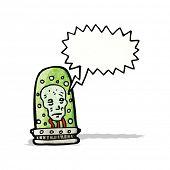 head in jar cartoon