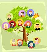 Family tree, vector illustration