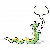 hissing snake cartoon