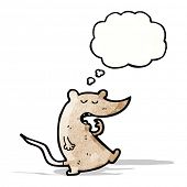 yawning mouse cartoon