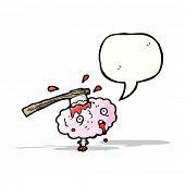 cartoon gross brain