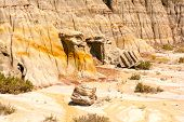 Eroded Cliffs In The Badlands