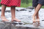 image of wet feet  - Kid - JPG