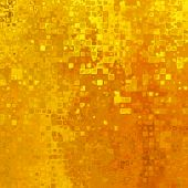 art abstract pixel geometric  pattern background in gold and orange colors