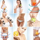 Dieting, healthy eating, fitness, sport, nutrition and health care concept