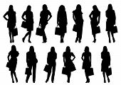 Sale women silhouette isolated