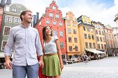 stock photo of scandinavian  - Couple in Stockholm - JPG