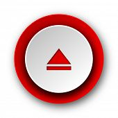 eject red modern web icon on white background