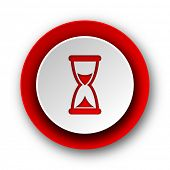 time red modern web icon on white background