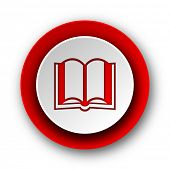book red modern web icon on white background