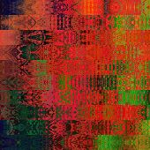 art abstract geometric horizontal stripes pattern background in red, gold, green and brown colors