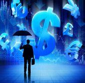Businessman With Fianacial Crisis