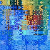 art abstract geometric horizontal stripes pattern background in blue and gold colors