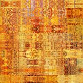 art abstract geometric horizontal stripes pattern background in orange, red, beige and yellow colors
