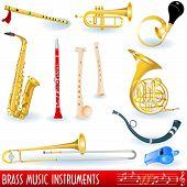 Brass music instruments