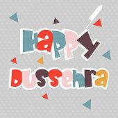 Illustration of colourful text with paper and crackers decorated seamless grey background.