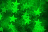green star shape as background