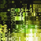 art abstract geometric horizontal stripes pattern background in green and gold colors