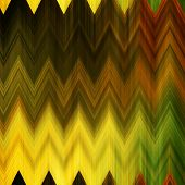 art abstract colorful zigzag geometric vertical seamless pattern background in gold, green, black and brown colors