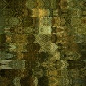 art abstract geometric horizontal stripes pattern background in beige, olive, green, black, brown and grey colors