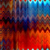art abstract colorful zigzag geometric vertical seamless pattern background in red, orange and blue colors