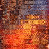 art abstract geometric horizontal stripes pattern background in red, orange and blue colors