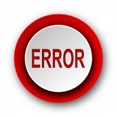 error red modern web icon on white background