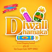 foto of diwali  - illustration of Diwali Dhamaka  - JPG