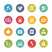 Business & Finance Icons // Fresh Colors -- Icons and buttons in different layers, easy to change colors.
