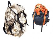 The image of rucksack under the white background