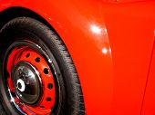 stock photo of mg  - MG Red Vintage Car - JPG
