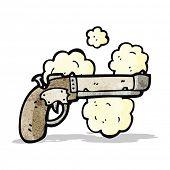 old pistol cartoon