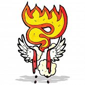 cartoon bloody wings symbol