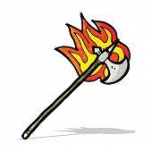 flaming axe cartoon